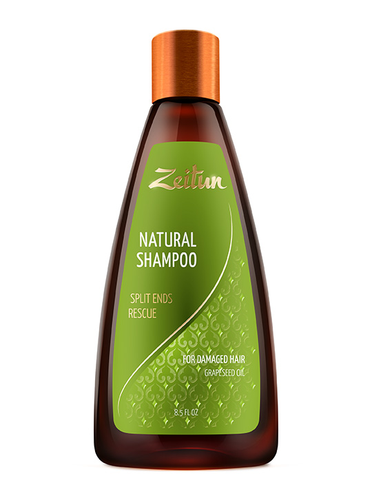 Shampoo «Split ends rescue» for damaged hair with Grapeseed oil