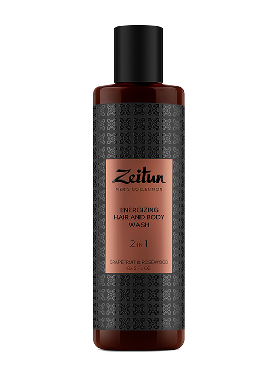 Energizing 2 in 1 Hair and Body Wash for men with Grapefruit and Rosewood