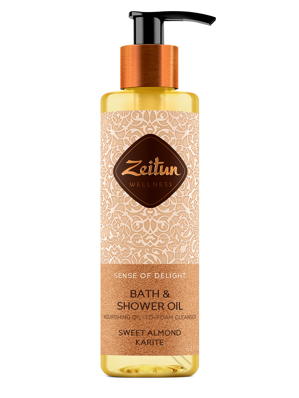 Sense of Delight Nourishing Bath & Shower Oil with Sweet Almond and Karit