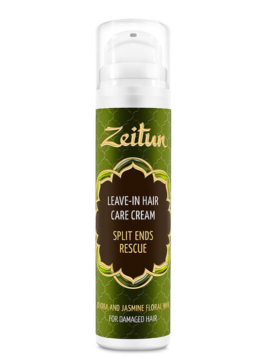 "Leave-in hair cream ""Split ends rescue"" for damaged hair — jojoba & jasmine floral wax"