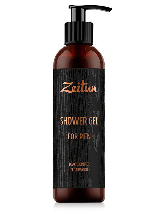 "Shower gel ""Black juniper & cedarwood"" — for men"
