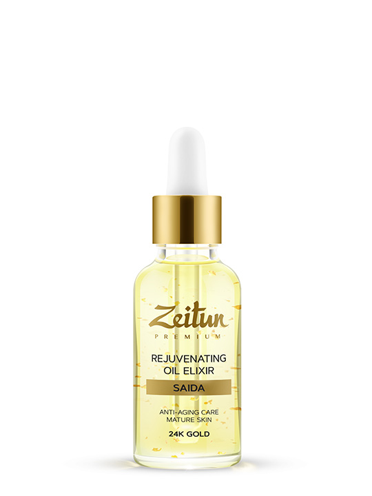 "SAIDA rejuvenating Oil Elixir ""Anti-aging care"" with 24K gold"