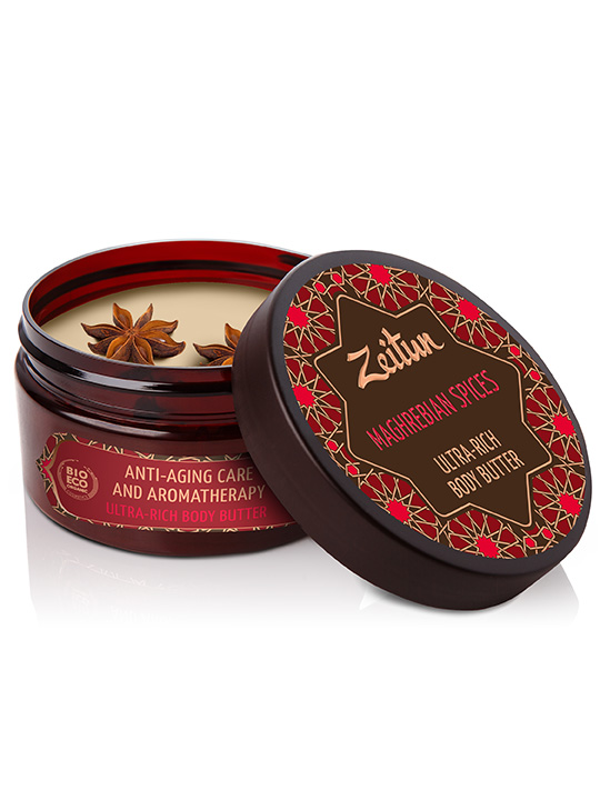 "Ultra-rich body butter ""Maghrebian spices"" — anti-aging care and aromatherapy"