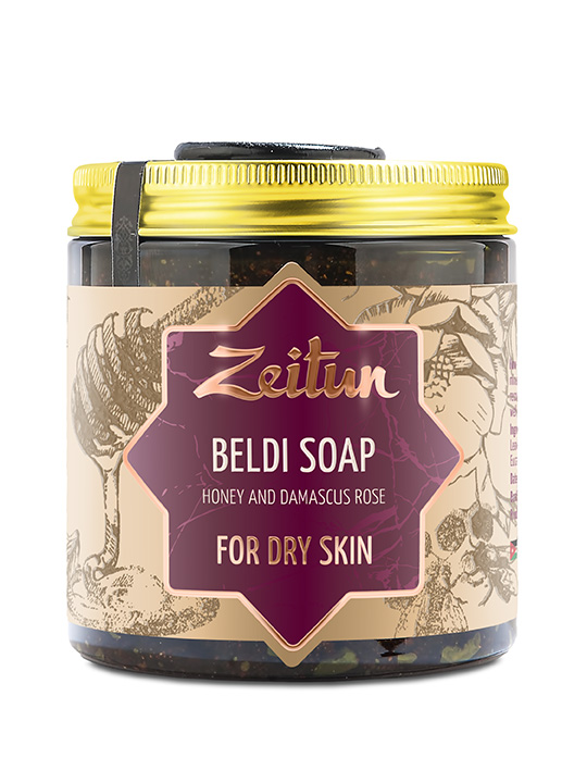 "Beldi soap ""Honey and Damascus rose"" — for dry skin"