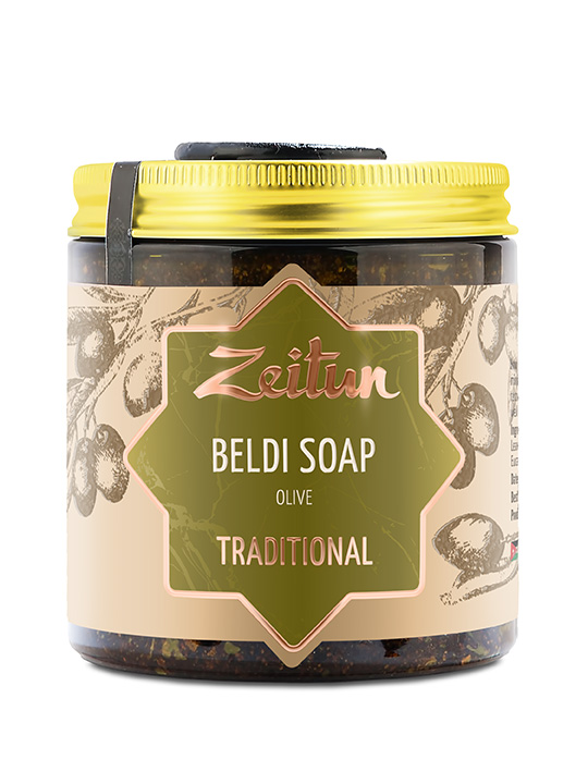 Traditional olive Beldi soap