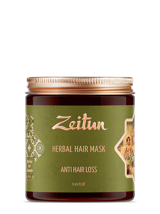 "Herbal hair mask ""Anti-hair loss"" — Dead sea mud and amla"
