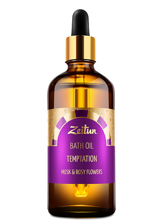 "Bath oil ""Temptation"" – musk and rosy flowers"