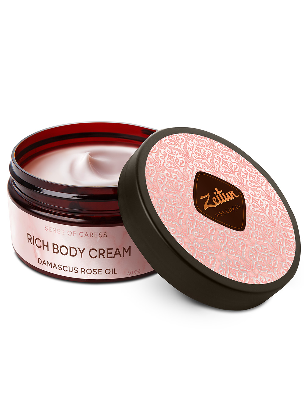 Sense of Caress Rich Soothing Body Cream with Damascus Rose oil