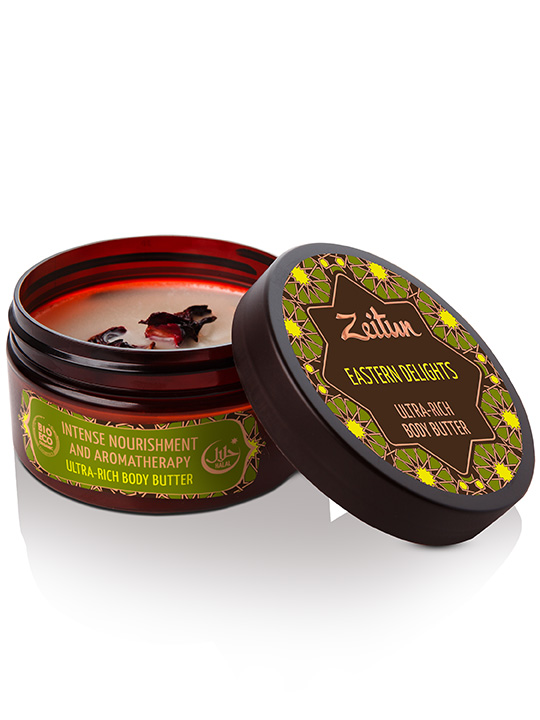 "Ultra-rich body butter ""Eastern delights"" — intense nourishment and aromatherapy"