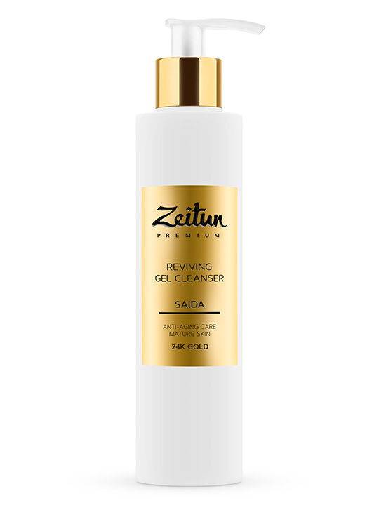 "SAIDA reviving Gel Cleanser ""Anti-aging care"" with 24K gold"