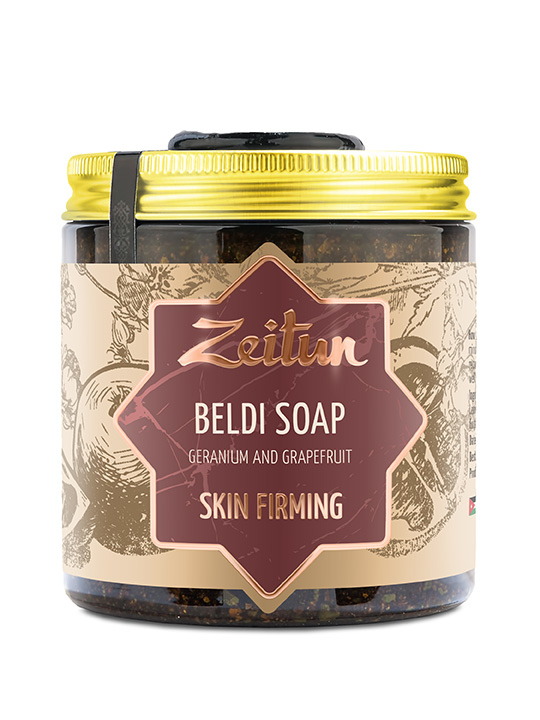"Beldi soap ""Geranium and grapefruit"" — skin-firming"