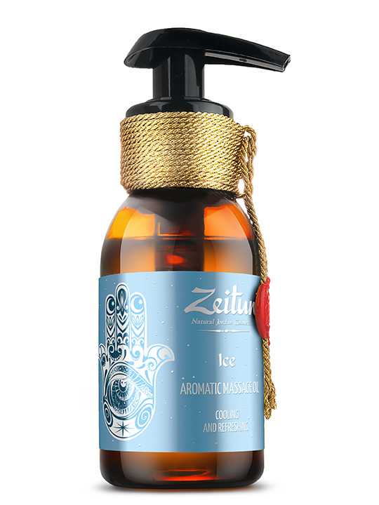 "Aromatic massage oil ""Ice"" – peppermint, lime, lemon"