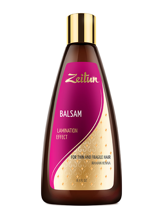 "Balsam ""Lamination effect"" for thin and fragile hair with Iranian Henna"