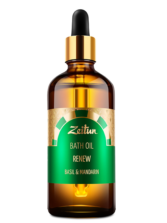 "Bath oil ""Renew"" – basil and mandarin"