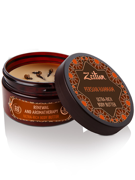 "Ultra-rich body butter ""Persian hammam"" — renewal and aromatherapy"